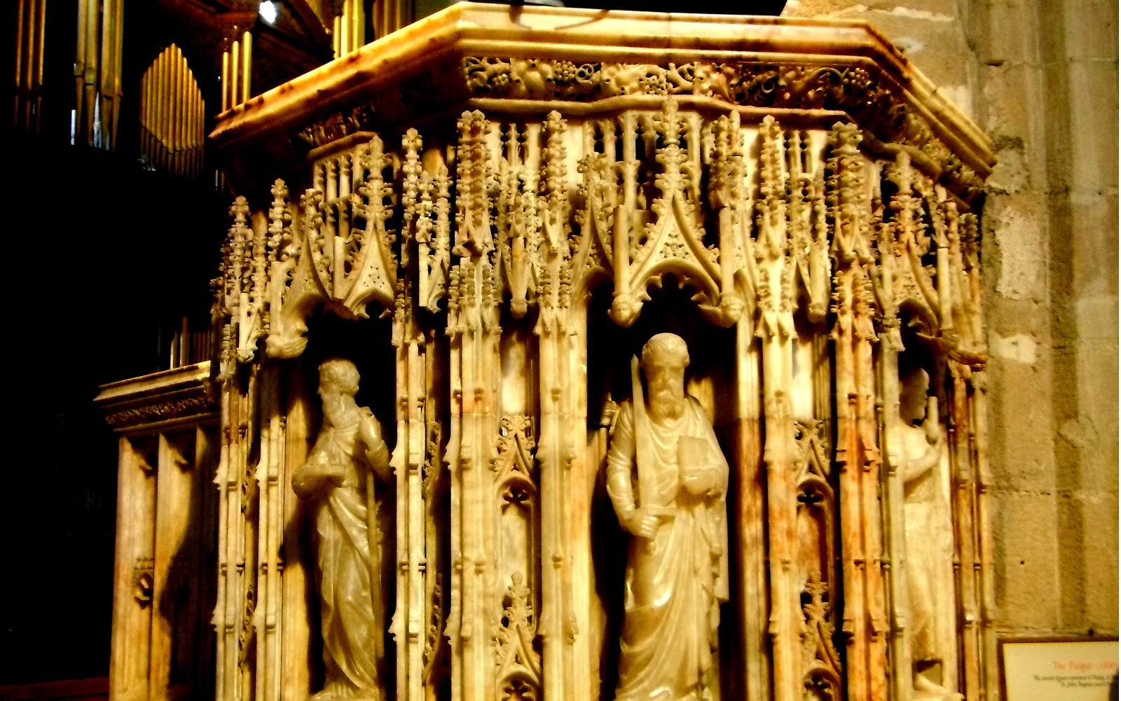 Pulpit, at St Nicholas Cathedral in Newcastle upon Tyne