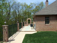 Brick And Wrought Iron Fencing2