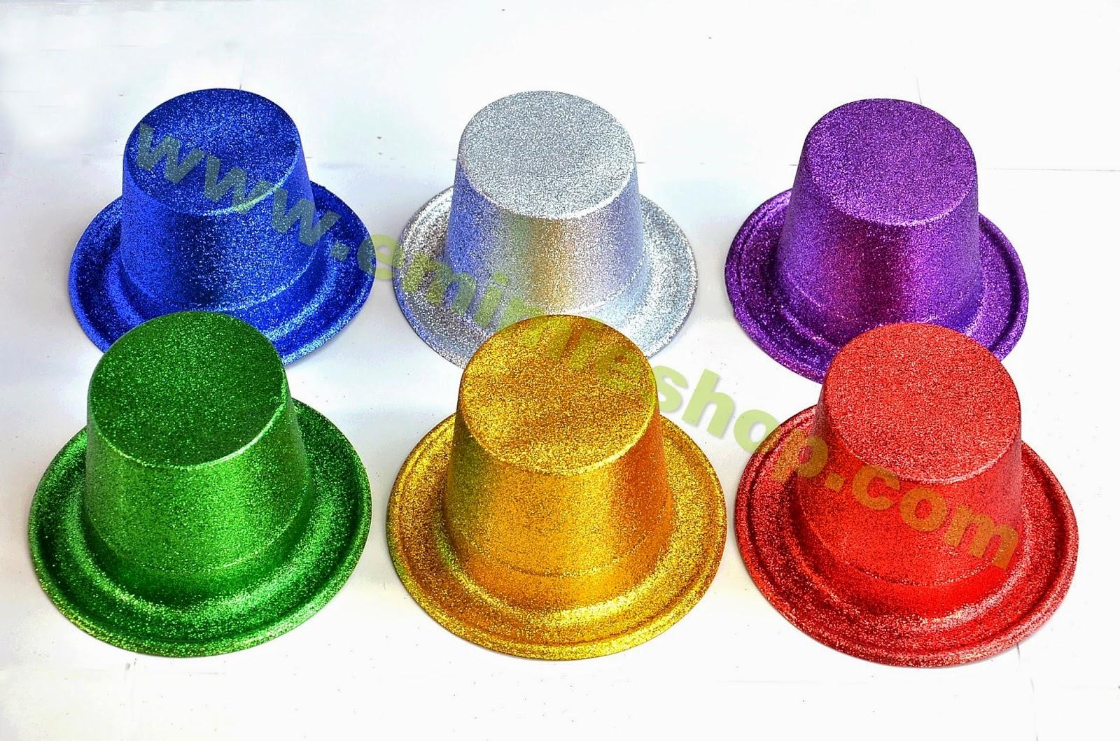 Topi Glitter Warna Warni