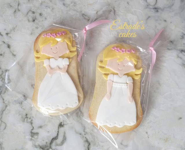 galletas de niña de Comunión rubia 4
