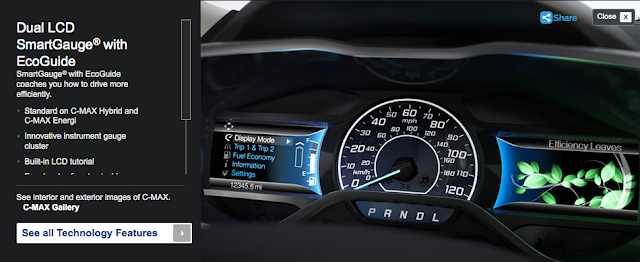 Latest generation of Ford's SmartGauge® with EcoGuide