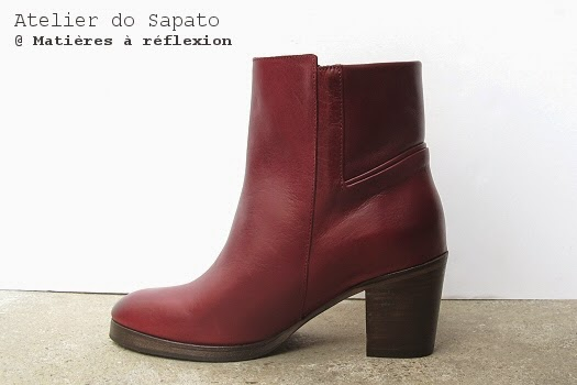 Bottines talon bois Atelier do Sapato