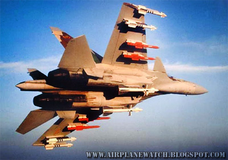 Chinese Su-27M Interceptor Jet Fighter Armed Missiles International Airspace Near Japan
