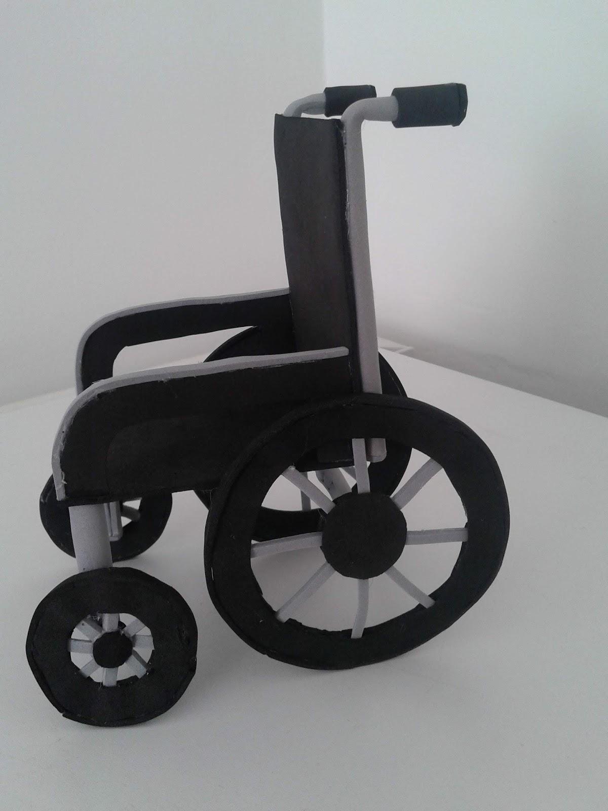 Mis cositas ontinyent silla de ruedas de goma eva for Ruedas de goma para sillas