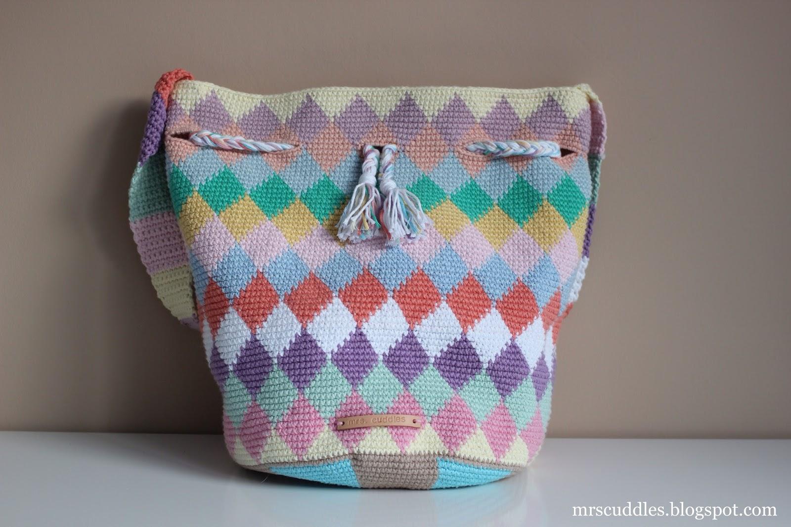 Mrs Cuddles Diamond Tapestry Bag