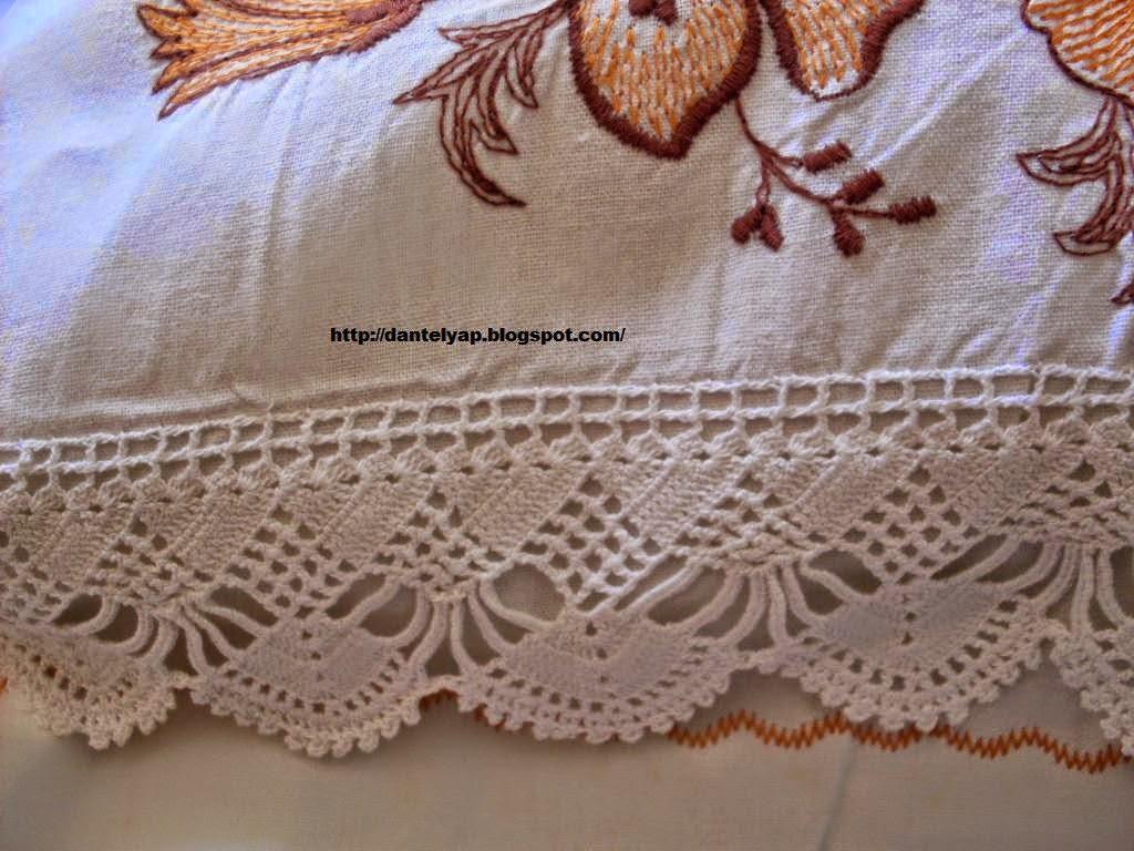 nakış işlemeli yastık danteli