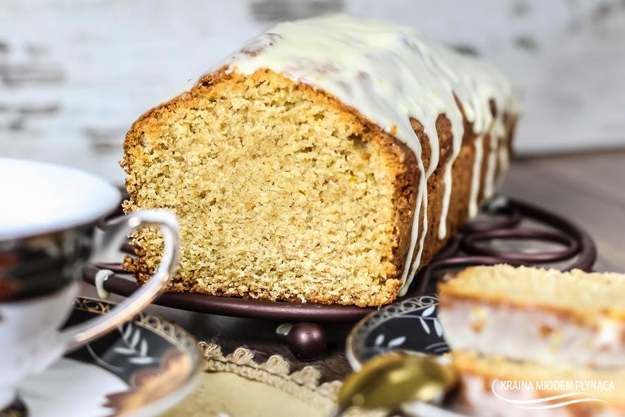 ciasto imbirowe, ciasto z imbirem, wypieki z imbirem, imbir, kraina miodem płynąca, lukier cytrynowy, lukier do ciasta