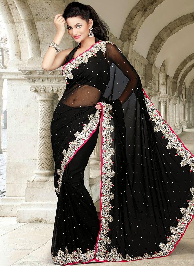 http://www.cbazaar.com/party-wear-saree/dazzling-diva/impressive-black-georgette-saree-p-samky765.html