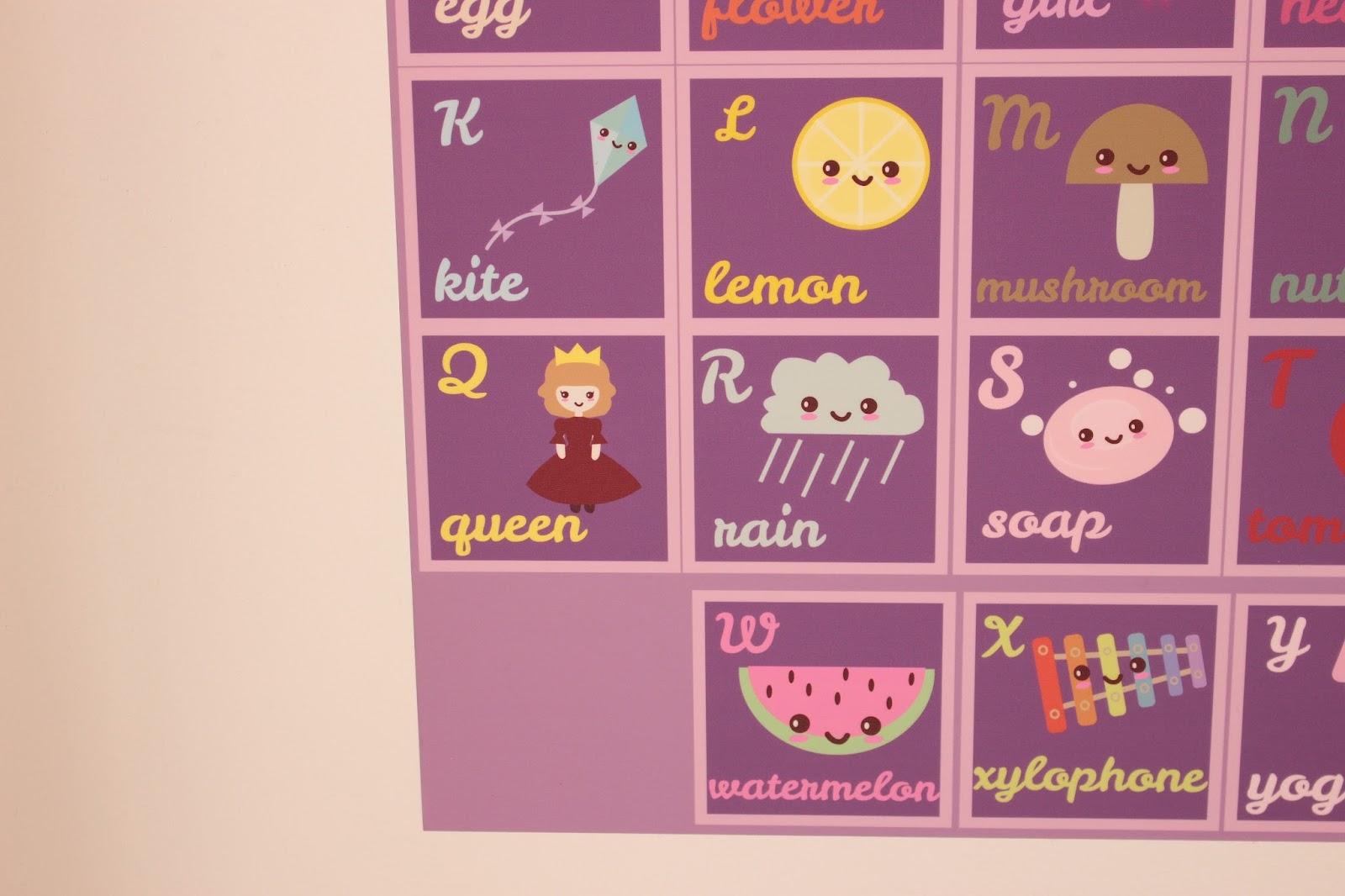 alphabet kawaii