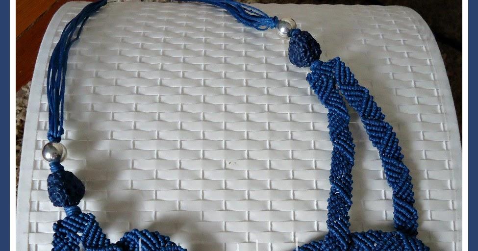 Il macram di sabrina collana nodo new for Nodo invisibile per unire due fili di lana
