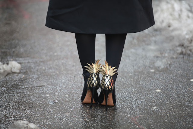 streetstyle, pineapple shoes, fashion week, new york fashion week, nyfw, diy inspiration