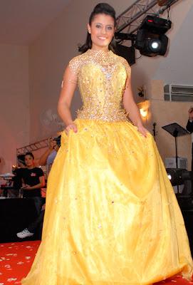 vestido de 15 anos amarelo