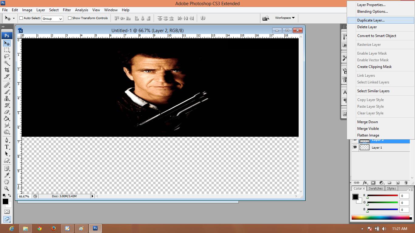 pic cara belajar how to create tutorial photoshop pemula membuat mirror bayangan foto 1