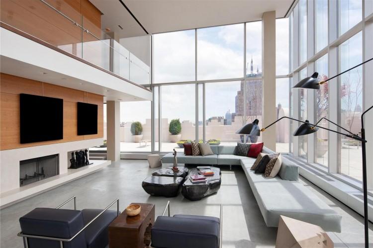 Nice $45 Million Glass Skyloft Penthouse Apartment Overlooking New York City Photo Gallery