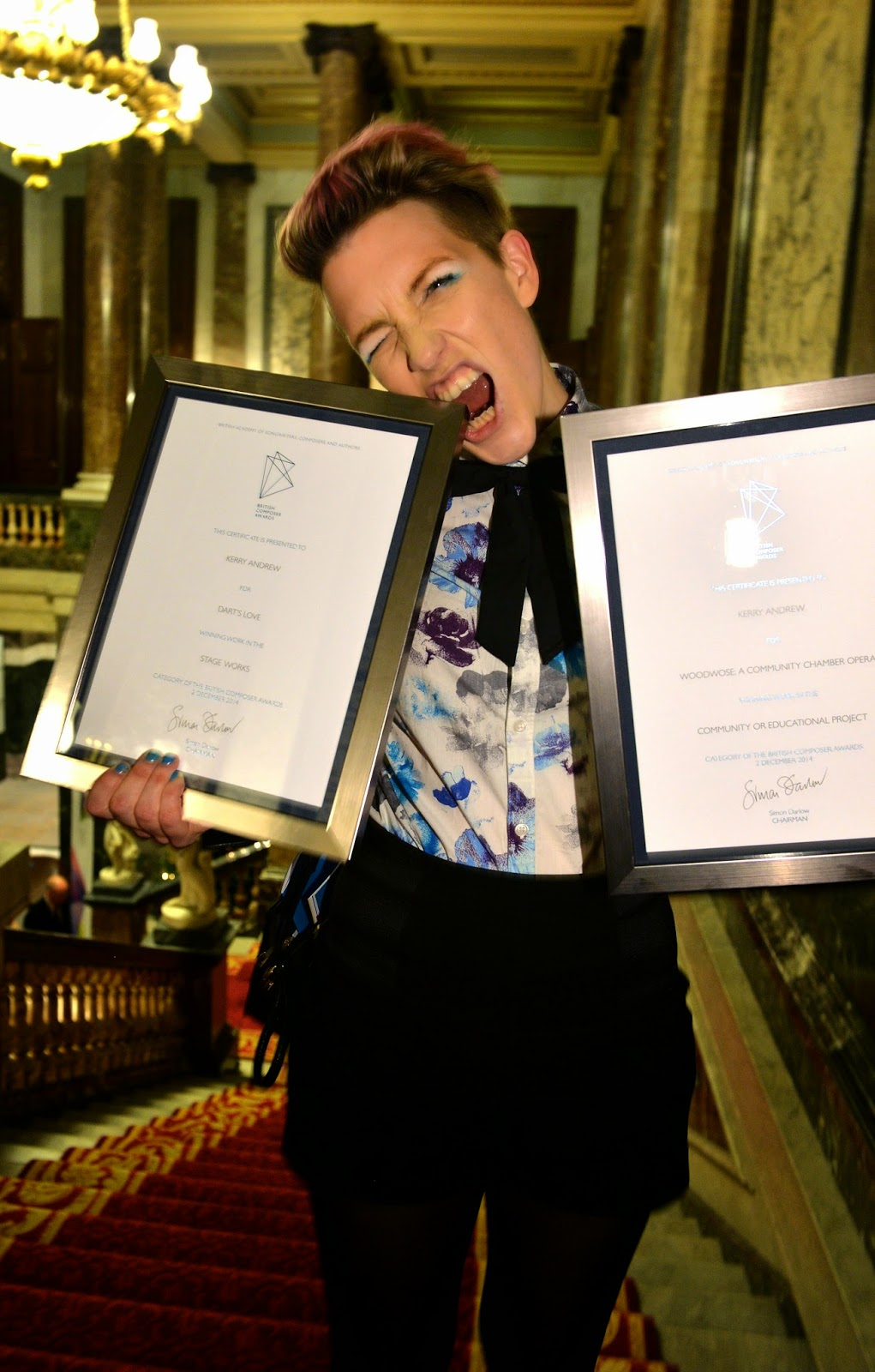 Kerry Andrew at British Composer Awards - photo credit Mark Allan