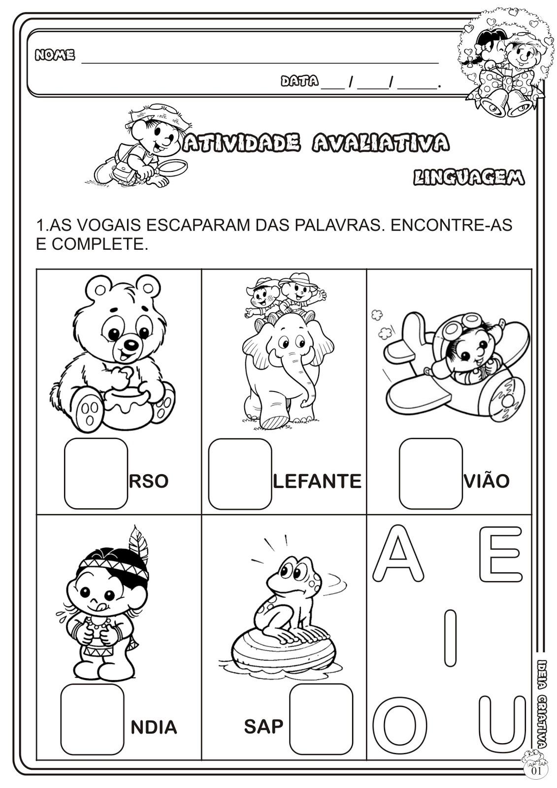 Top Atividade Avaliativa Educação Infantil | Ideia Criativa - Gi  HD27