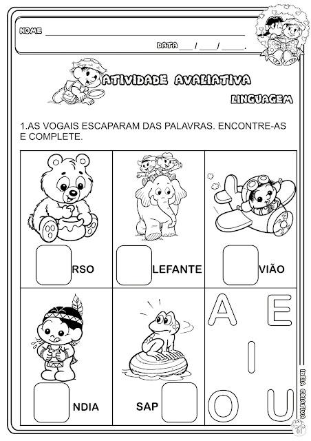 Atividade Avaliativa Educação Infantil