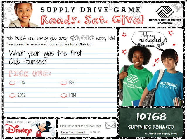 Help donate B2S supplies with a fun quiz-style game