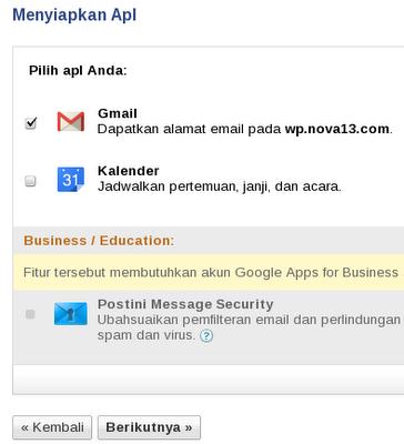 Menyiapkan Google Apps