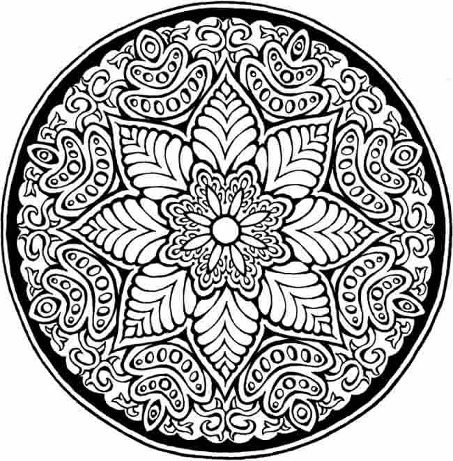 flower detailed coloring pages - photo#13