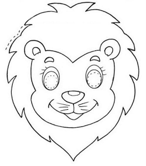 Dibujos y Plantillas para imprimir Mascaras de carnaval para