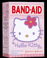 photo image of pink Hello Kitty band-aid box