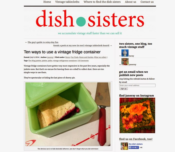 http://dishsisters.com/2014/07/09/ten-ways-to-use-a-vintage-fridge-container/
