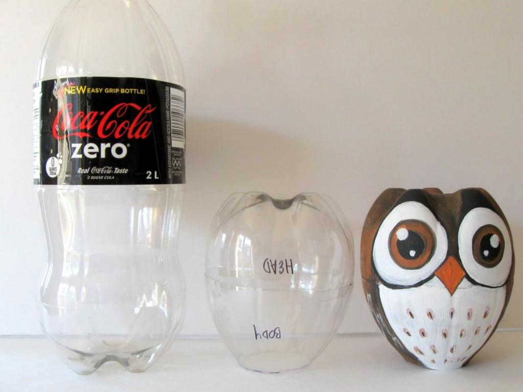 Reciclaje: Árbol Navideño hecho con Botella de Plástico