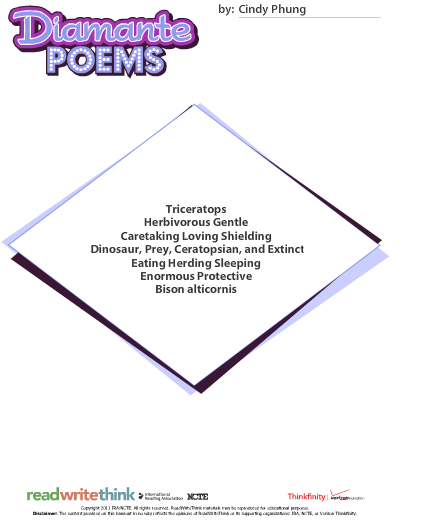 Search Results For Blank Diamante Poem Calendar 2015