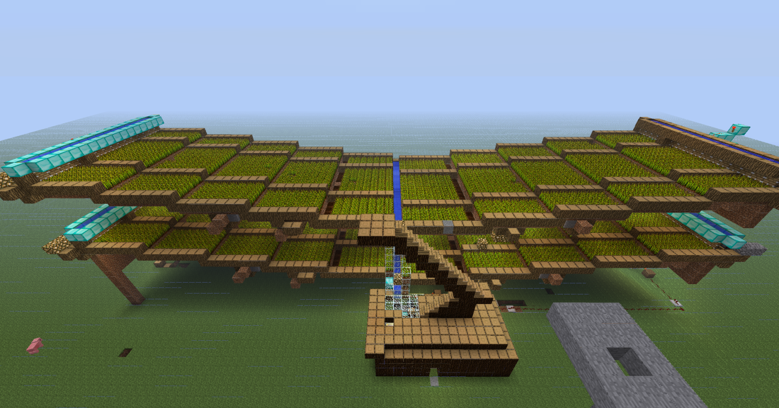Gallery For gt Minecraft Automatic Wheat Farm