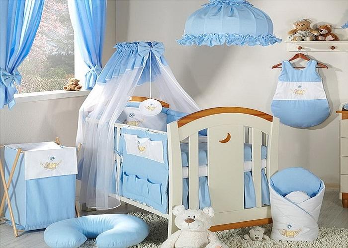 Décoration chambre bébé bleu