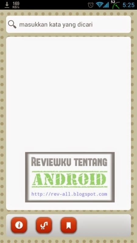 Tampilan utama aplikasi YUFID KBBI - kamus besar bahasa indonesia offline untuk android oleh yufid (rev-all.blogspot.com)