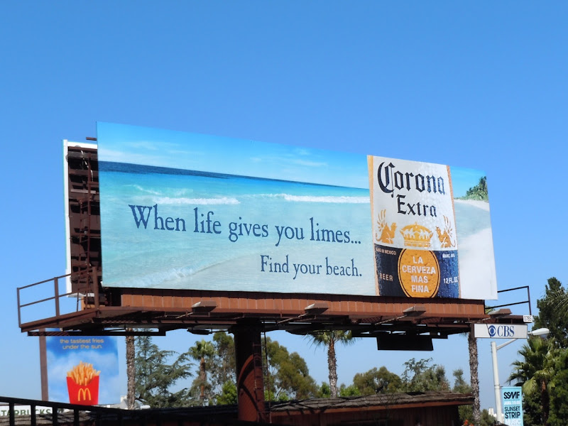 Corona limes beach billboard