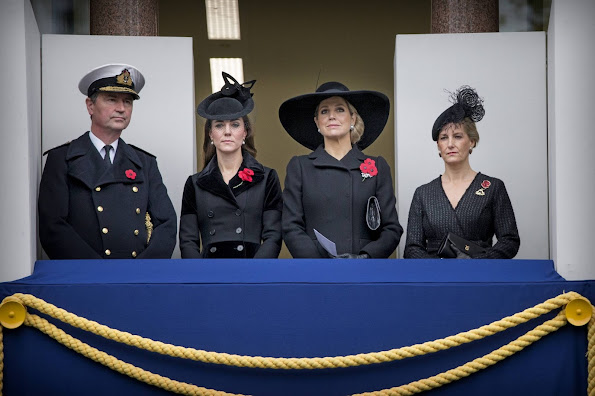 Catherine, Duchess of Cambridge and Queen Maxima of the Netherlands and King Willem-Alexander of the Netherlands, Sophie, Countess of Wessex,