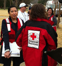 Red Cross disaster drill