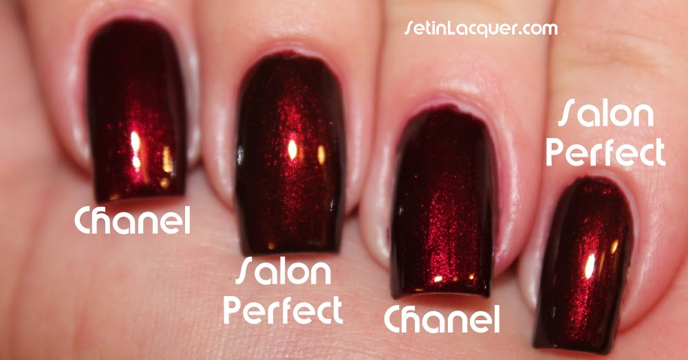 Comparison: Chanel Malice and Salon Perfect Red Dahlia - Set in Lacquer