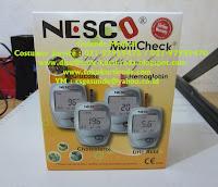 Nesco Alat Test Gula Darah Asam Urat Kolesterol