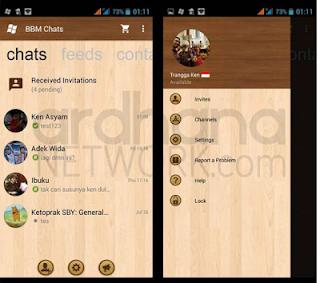 BBM Windows Phone Wood  v2.10.0.35 Apk