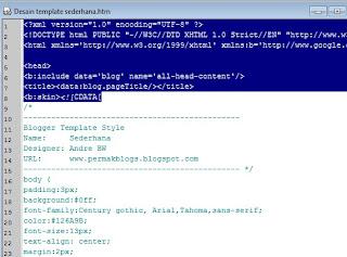 cara membuat template blogspot