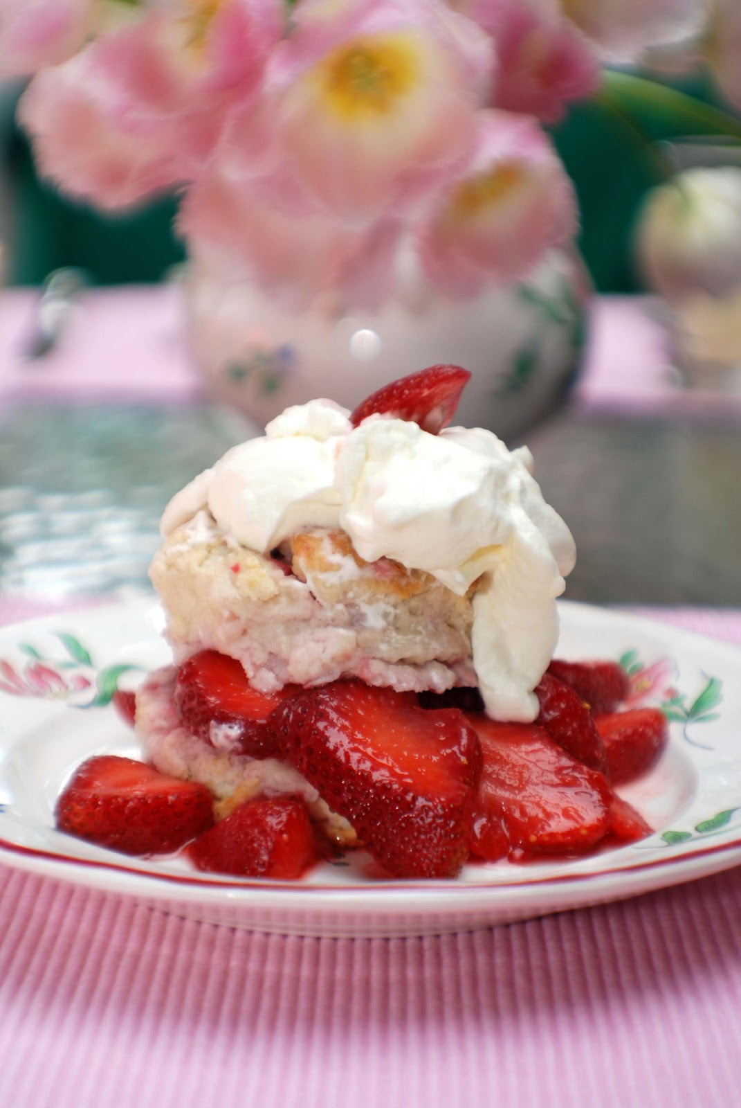 Strawberry And Banana Shortcake Biscuits Recipe — Dishmaps