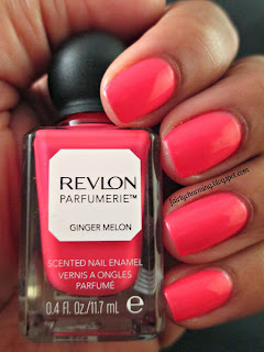 revlon parfumerie, ginger melon, scented, nail polish, swatch