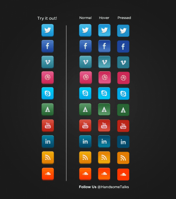 25 Best Free Social Media Icons set
