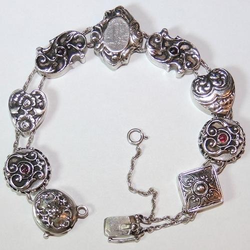 Silver Jewelry Slide Bracelet