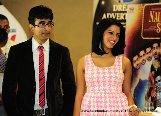Ayushmann & Evelyn at  Premiere of 'Nautanki Saala!' in Dubai