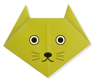 origami catface easy origami instructions for kids