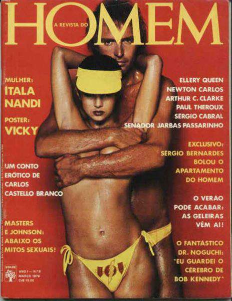 Confira as fotos da atriz Ítala Nandi, Capa da Revista Homem de Março de 1976!
