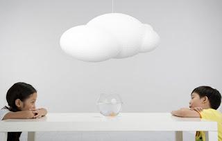 lampe nuage blanc design déco tendance