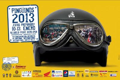 Cartel oficial concentraci%C3%B3n motera Ping%C3%BCinos 2013 - EN CASTILLA: Pingüinos 2013, en Valladolid