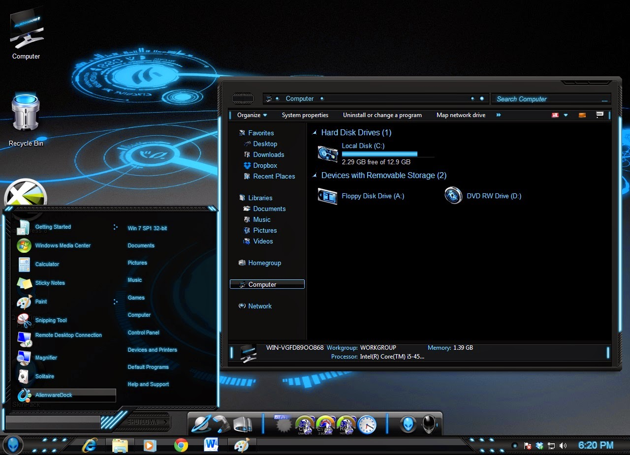 Tema windows xp alienware