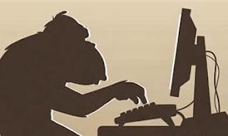 blogger, monkey, monyet, komputer, computer